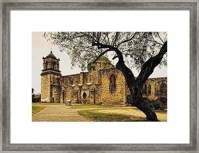 Mission San Jose Framed Print by Iris Greenwell
