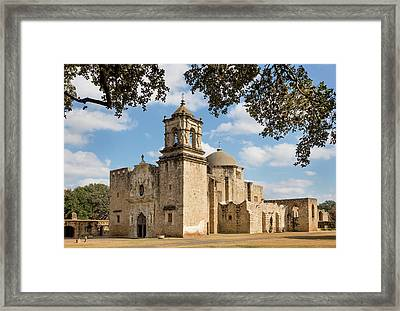 Framed Print featuring the photograph Mission San Jose by Mary Jo Allen