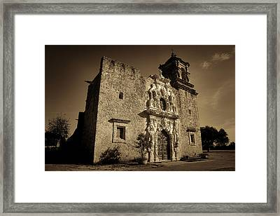 Mission San Jose - Sepia Framed Print