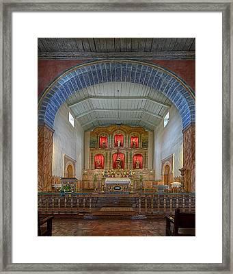 Mission San Juan Bautista Interior Framed Print