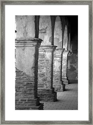 Mission San Juan Capistrano Arches Framed Print by Brad Scott