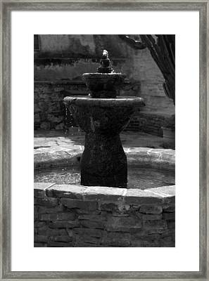 Mission San Juan Capistrano Fountain Framed Print