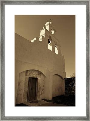 Mission San Juan Capistrano - Sepia Framed Print