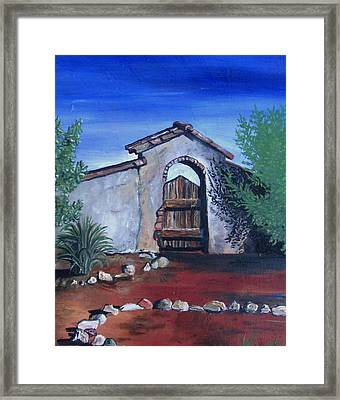 Framed Print featuring the painting Rustic Charm by Mary Ellen Frazee
