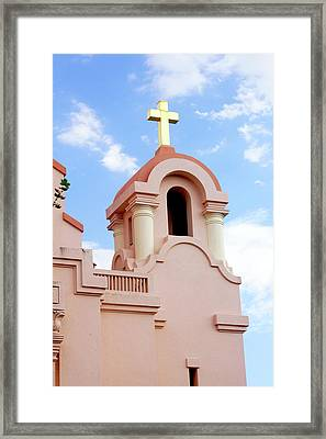 Mission San Rafael Parish Church Framed Print by Art Block Collections