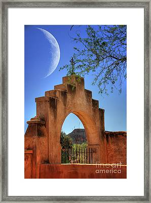 Mission San Xavier Del Bac Framed Print by Lois Bryan