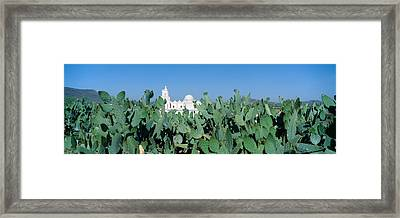 Mission San Xavier Del Bac Framed Print by Panoramic Images