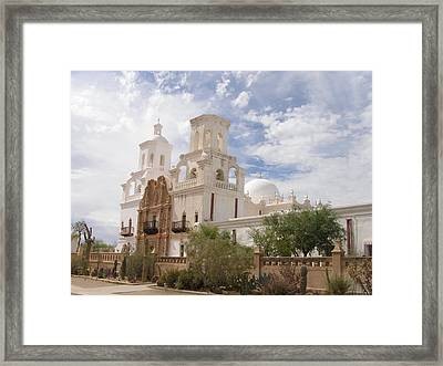 Mission San Xavier Framed Print by Jeanette Oberholtzer