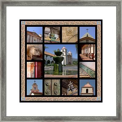 Mission Santa Barbara Framed Print