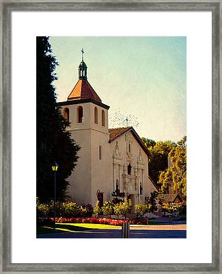 Framed Print featuring the photograph Mission Santa Clara - California by Glenn McCarthy Art and Photography