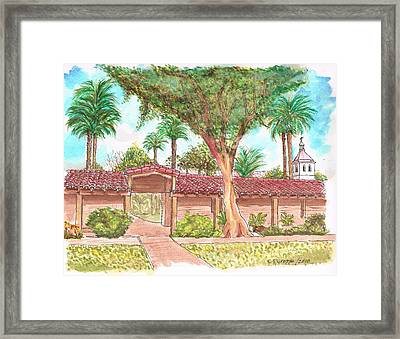 Mission Santa Clara De Asis, California Framed Print