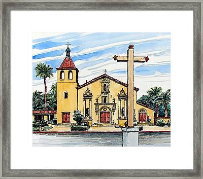 Framed Print featuring the painting Mission Santa Clara De Asis by Terry Banderas