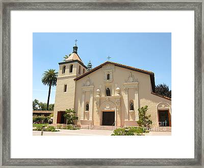 Mission Santa Clara Framed Print by Mini Arora