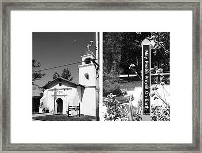Mission Santa Cruz No1 Framed Print by Mic DBernardo