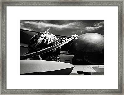 Framed Print featuring the photograph Mission Space Black And White by Eduard Moldoveanu