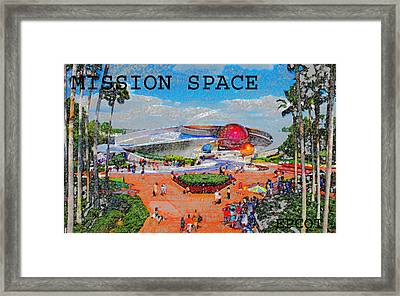 Mission Space Landscape Framed Print