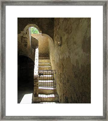 Mission Stairway  Framed Print