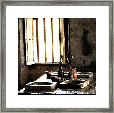 Mission Still Life 2 Framed Print