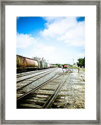 Mission Street Train Yard Framed Print