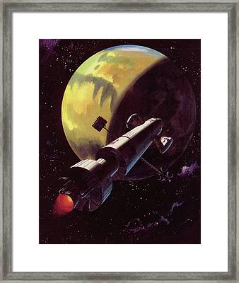 Mission To Mars Framed Print by Wilf Hardy