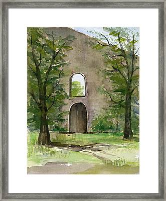 Mission Wall Framed Print by Arline Wagner