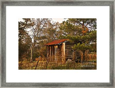 Framed Print featuring the photograph Mississippi Corn Crib by Tamyra Ayles