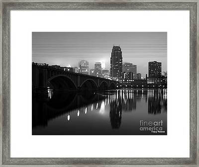 Mississippi Glass Framed Print by Tracy Reese