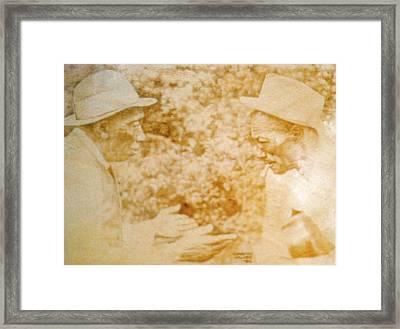 Mississippi John Hurt And Son House Framed Print