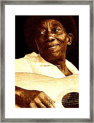 Mississippi John Hurt Framed Print by Jeff DOttavio
