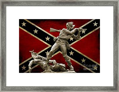 Mississippi Monument And Confederate Flag Framed Print by Randy Steele