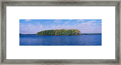 Mississippi River Along Great River Framed Print by Panoramic Images