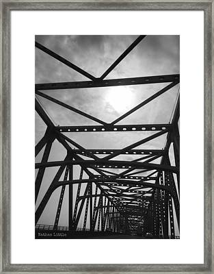 Mississippi River Bridge Framed Print
