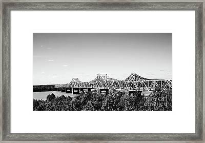 Mississippi River Bridge - Vicksburg Framed Print by Scott Pellegrin