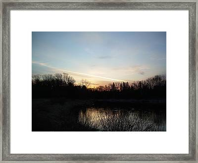 Framed Print featuring the photograph Mississippi River Colorful Dawn Clouds by Kent Lorentzen