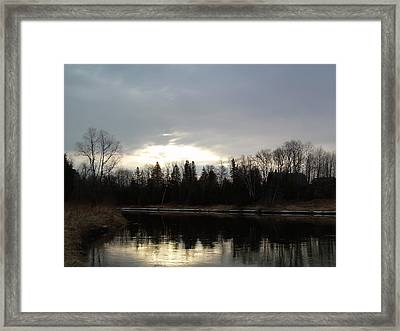 Framed Print featuring the photograph Mississippi River Dawn Clouds by Kent Lorentzen