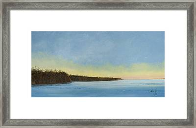 Mississippi River Delta At Dawn Framed Print