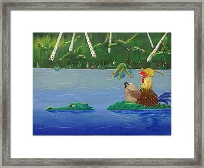 Mississippi River Drifter Framed Print by Bennie Giles