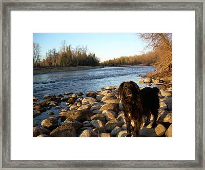 Framed Print featuring the photograph Mississippi River Good Morning by Kent Lorentzen