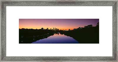 Mississippi River, Minneapolis, Sunset Framed Print by Panoramic Images