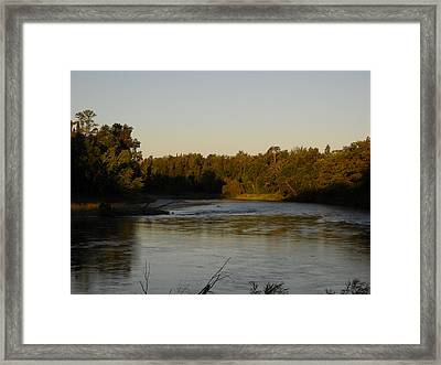 Mississippi River Morning Glow Framed Print