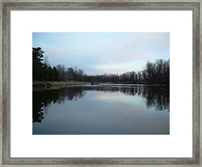 Framed Print featuring the photograph Mississippi River Morning Reflection by Kent Lorentzen
