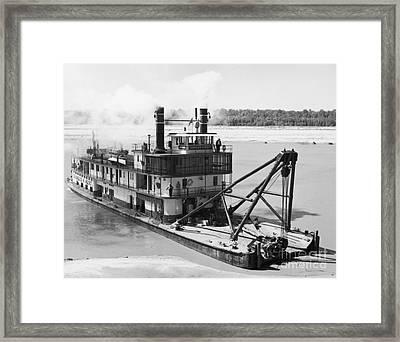 Mississippi River Snag Boat Framed Print by Granger