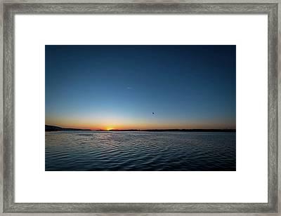 Mississippi River Sunrise Framed Print