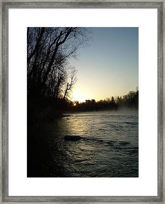 Framed Print featuring the photograph Mississippi River Sunrise Shadow by Kent Lorentzen
