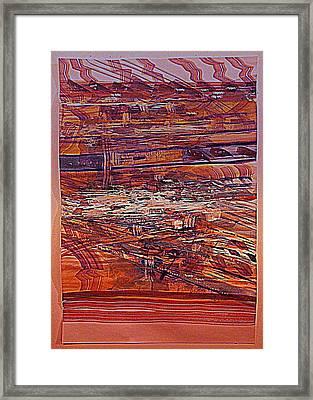 Mississippi River Traffic Framed Print by Nancy Kane Chapman