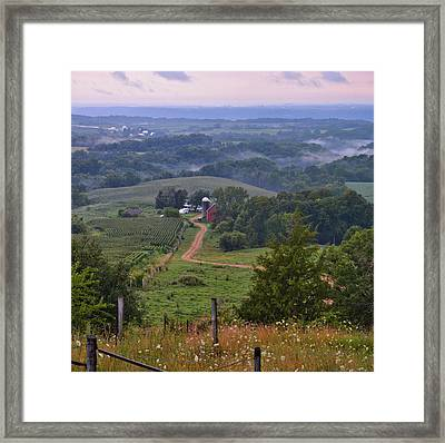 Mississippi River Valley 2 Framed Print