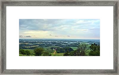 Mississippi River Valley Framed Print