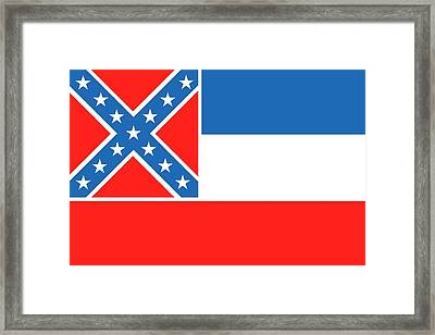 Mississippi State Flag Framed Print by American School