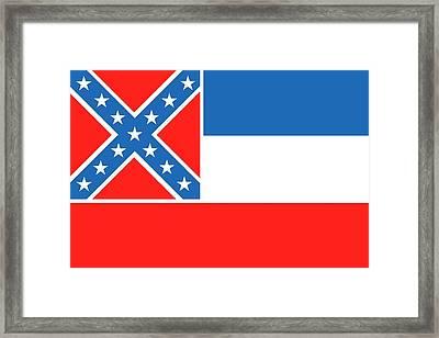 Mississippi State Flag Framed Print