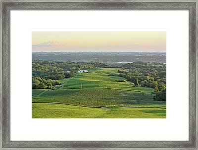 Mississippi Valley Farm Framed Print